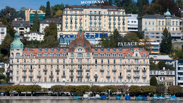 Das Palace Luzern in Frontalansicht.