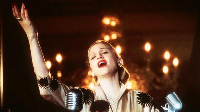 Madonna als Evita Peron.