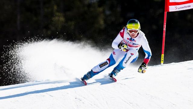Fabienne Suter zeigte im Training eine starke Fahrt.