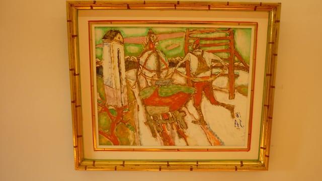 In'ovra da Aluis Carigiet en il Museum Sursilvan Cuort Ligia Grischa.