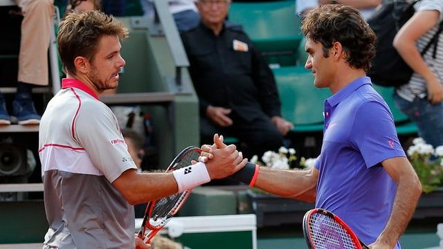 Stan Wawrinka e Roger Federer.