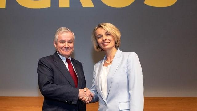 Andrea Broggini ed Ursula Nold.