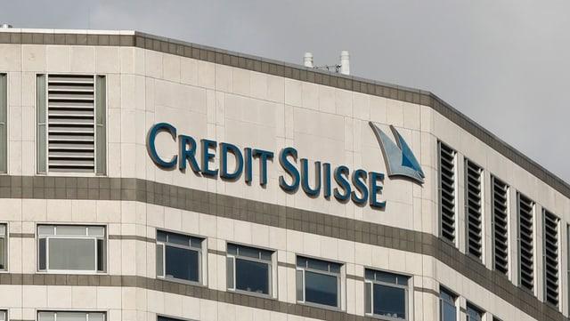Credit-Suisse-Filiale im Finanzviertel Canary Wharf in London.
