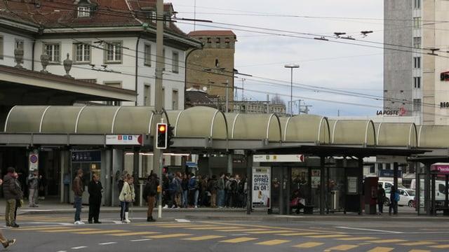 Der Bahnhofplatz in Freiburg, der aufgewertet werden soll.