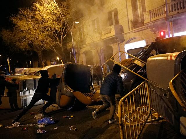 Ausschreitungen in Barcelona.