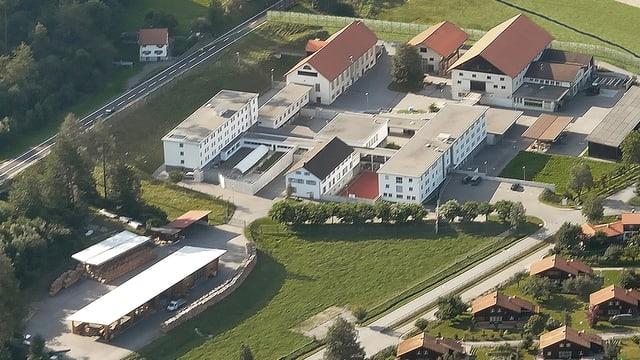 Der Gebäudekomplex von oben.