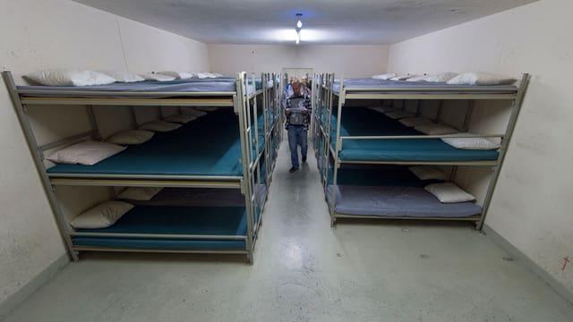 Innenansicht des neuen Durchgangszentrums für Asylsuchende in Riggisberg.