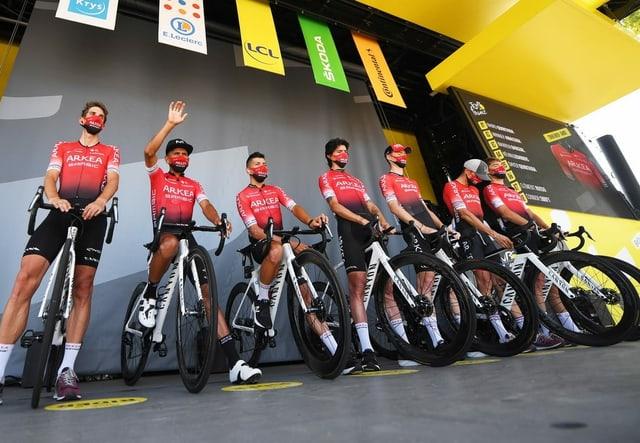 Das Team Arkéa-Samsic an der Tour de France.