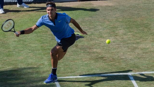 Roger Federer bei seinem einzigen Auftritt in Stuttgart.