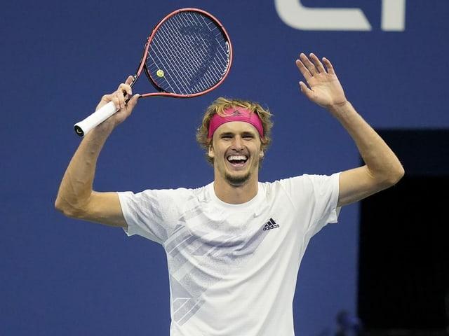 Der Deutsche steht erstmals in einem Grand-Slam-Final.