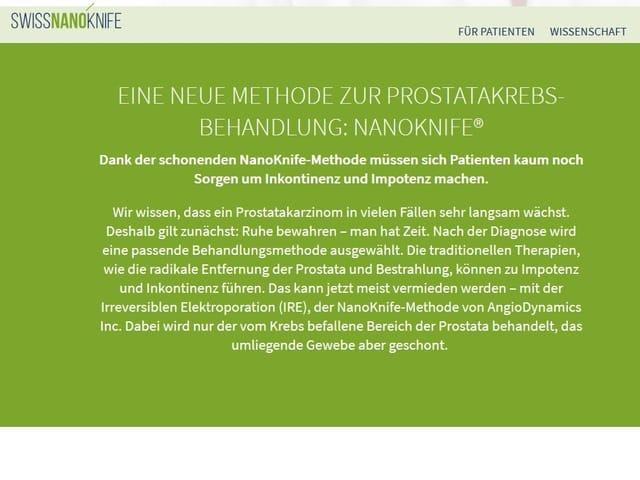 Screenshot von der Webseite von Alta Uro