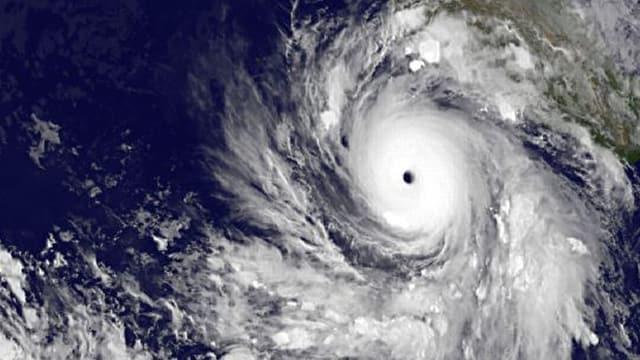 Hurrikan Rick vor der Küste Mexikos.