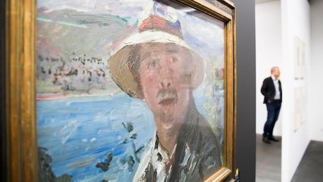 Männerportrait auf einem Bild der Sammlung Gurlitt.