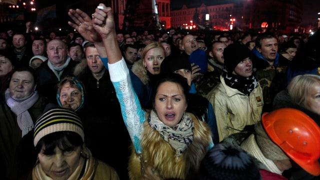 Der Maidan am Abend nach der Einigung
