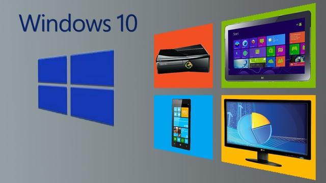 Windows 10 läuft auf der XBox, dem Desktop, dem Handy und dem Tablet.