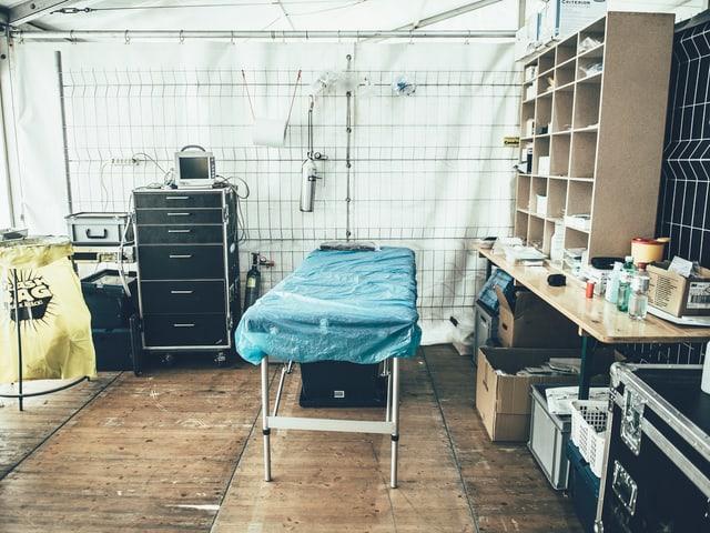 Das Behandlungszimmer.