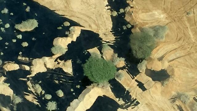 Satelliten-Aufnahme der Öllachen.