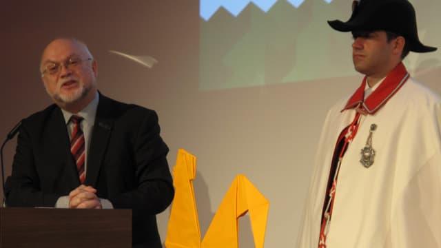 Nationalratspräsident Ruedi Lustenberger redete an der Eröffnungsfeier der Luga.