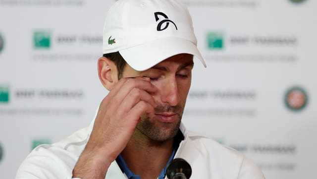 Novak Djokovic nach dem French-Open-Aus.