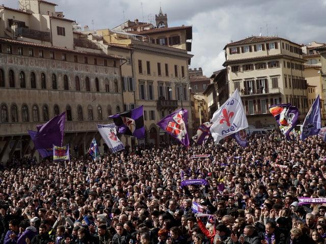 Die Fans der AC Fiorentina.