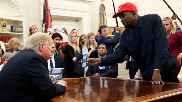 Donald Trump und Kanye West