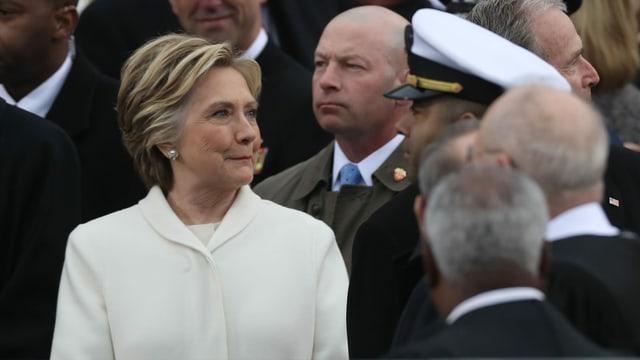 Es war kein leichter Gang für Sie: Hillary Clinton an der Inauguration ihres Gegners Donald Trump 2017.