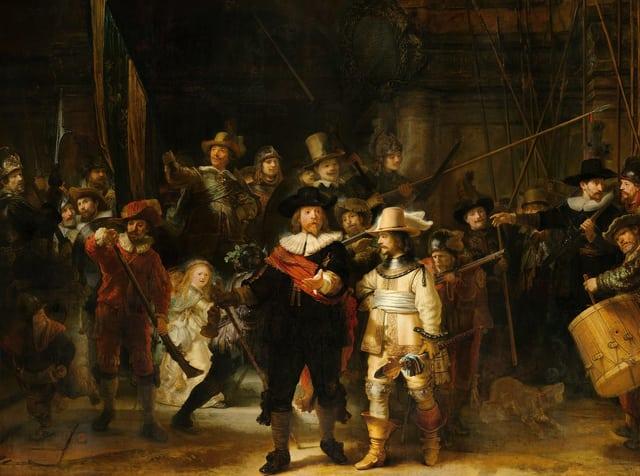 «Nachtwacht»: Das Gemälde des niderländischen Malers Rembrandt.