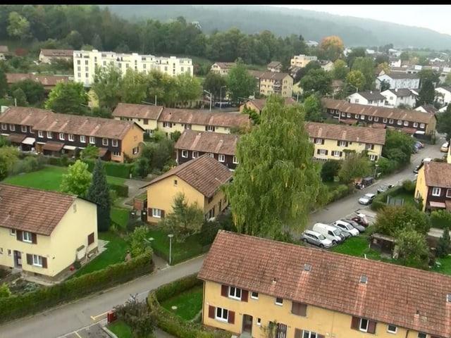 Die Siedlung Mattenhof in Schwamendingen vor dem Neubau.