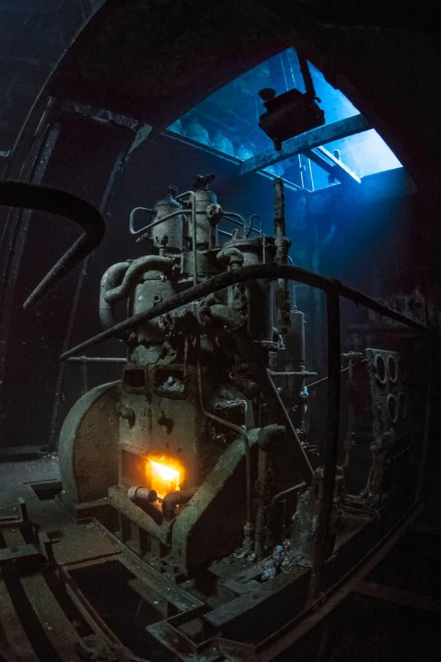 Sieger der Kategorie «Vielversprechendster britischer Unterwasser-Fotograf»: Marty Engels Dunmore fotografierte das Wrack des U-Boots USS Kittiwake vor Grand Cayman.