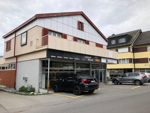 Standort vom geplanten neuen Verwaltungsgebäude an der Marktgasse 14 und 16 in Appenzell.