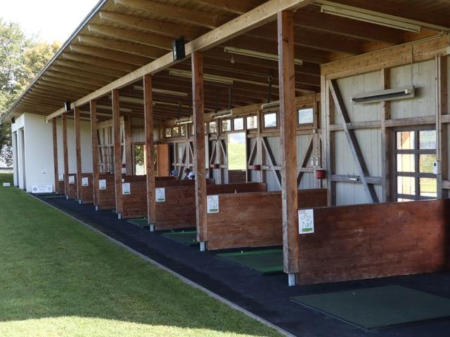 Abschlaghaus für Golfer