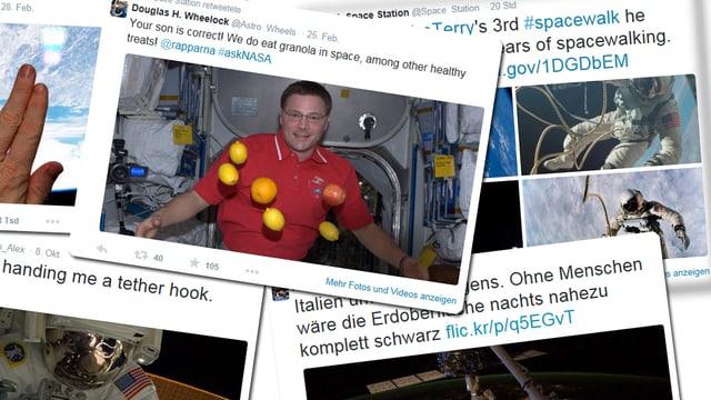 Tweets von Astronauten.