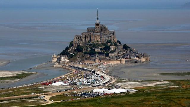 Aufnahme der Insel Mont-Saint-Michel