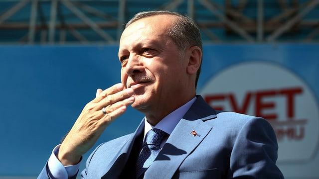purtret dal president tirc Recep Tayyip Erdogan