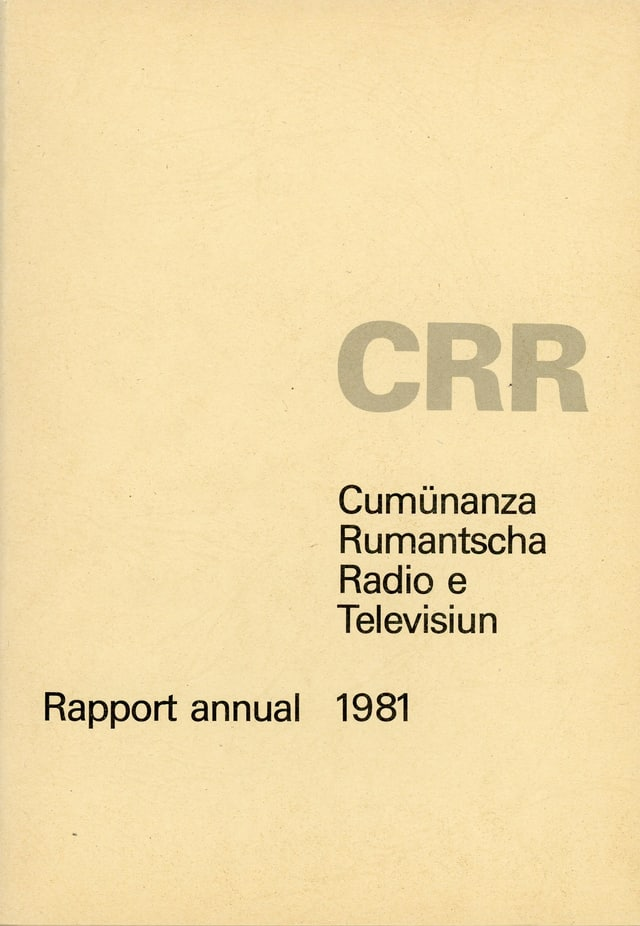CRR - Rapport annual 1981