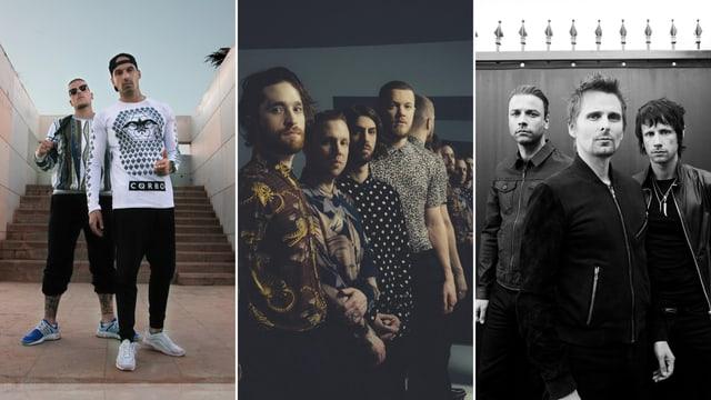 Bonez MC und RAF Camora, Imagine Dragons sowie Muse.