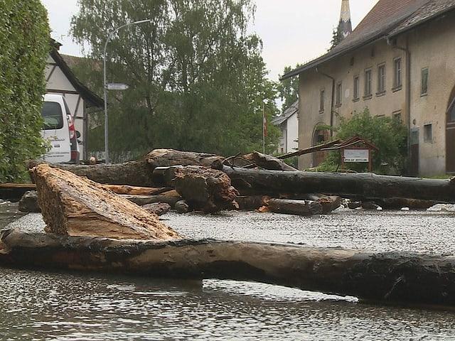 Überflutete Strasse
