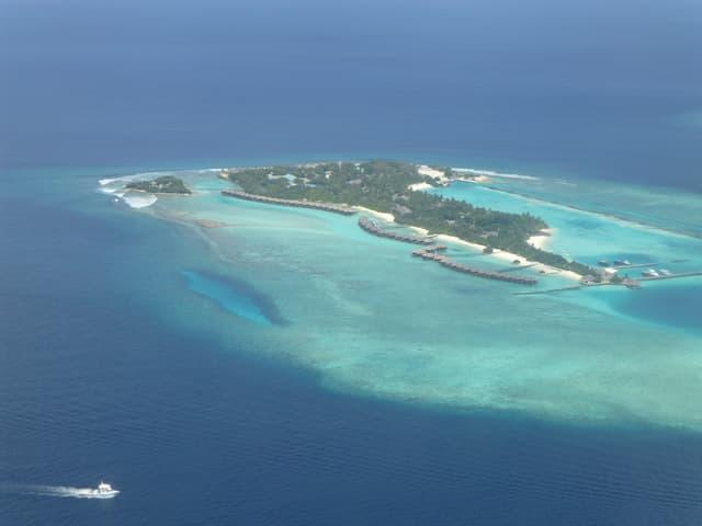 Eine Insel von oben.