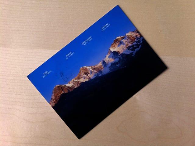 Post aus den Berner Alpen.