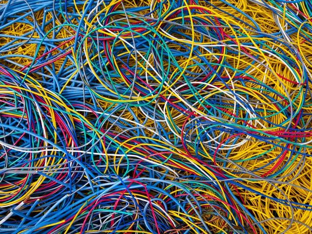 Viele Kabel