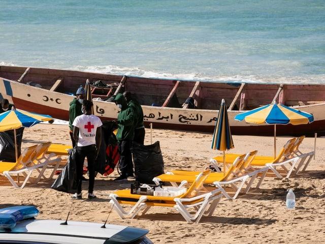 Migranten landen in Gran Canaria an, 21. Januar 2021