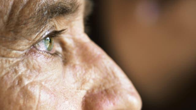 Auge einer älteren Person
