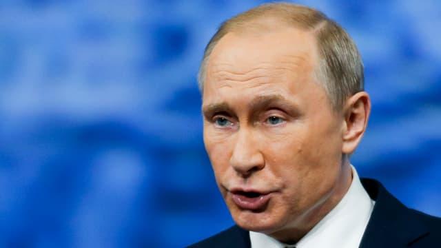 Der russische Präsident Wladimir Putin bei einer Rede.