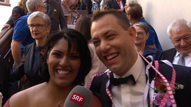 Sarah Jane und Dani Sparn an ihrer Hochzeit.
