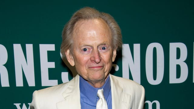 Tom Wolfe in Nahaufnahme.