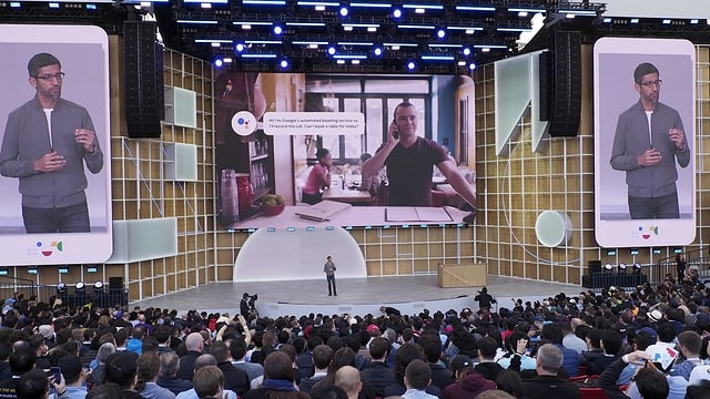 Pichai präsentiert den digitalen Assistenten Duplex