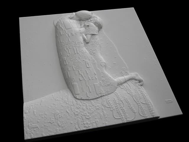 Tastrelief von Gustav Klimts «Der Kuss».