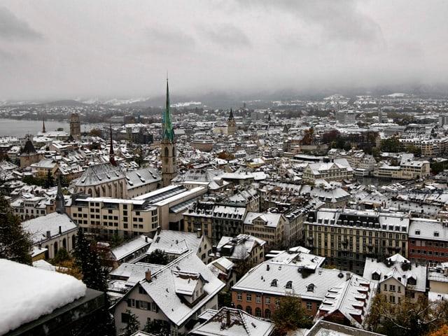 Verschneites Zürich