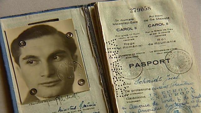 Der Pass des Sängers Joseph Schmidt.