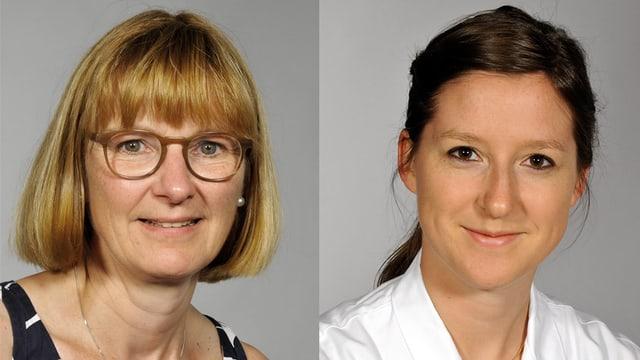 Porträts der zwei Ärztinnen